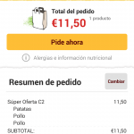 Just Eat Restaurantes Pedido