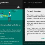 On-Body Detection
