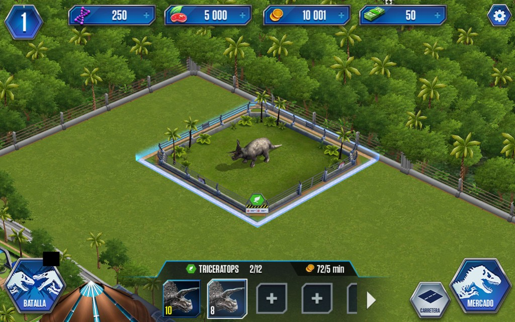 Jurassic World colocar jaula