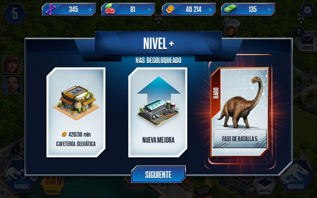Jurassic World sube de nivel