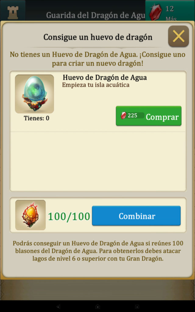 Dragons Of Atlantis Huevo de Agua cambiar Blasones