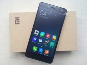 xiaomi redmi note 2 frontal y caja