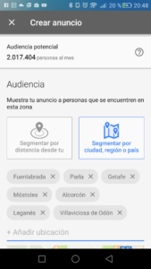 AdWords Express elige tu audiencia
