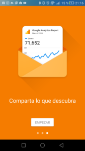 Google Analytics comparte