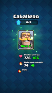Clash Royale subir carta nivel