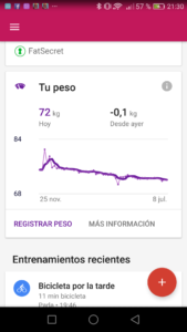 Google Fit Peso